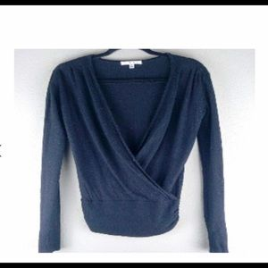 CAbi knit crossover wrap sweater. Size M